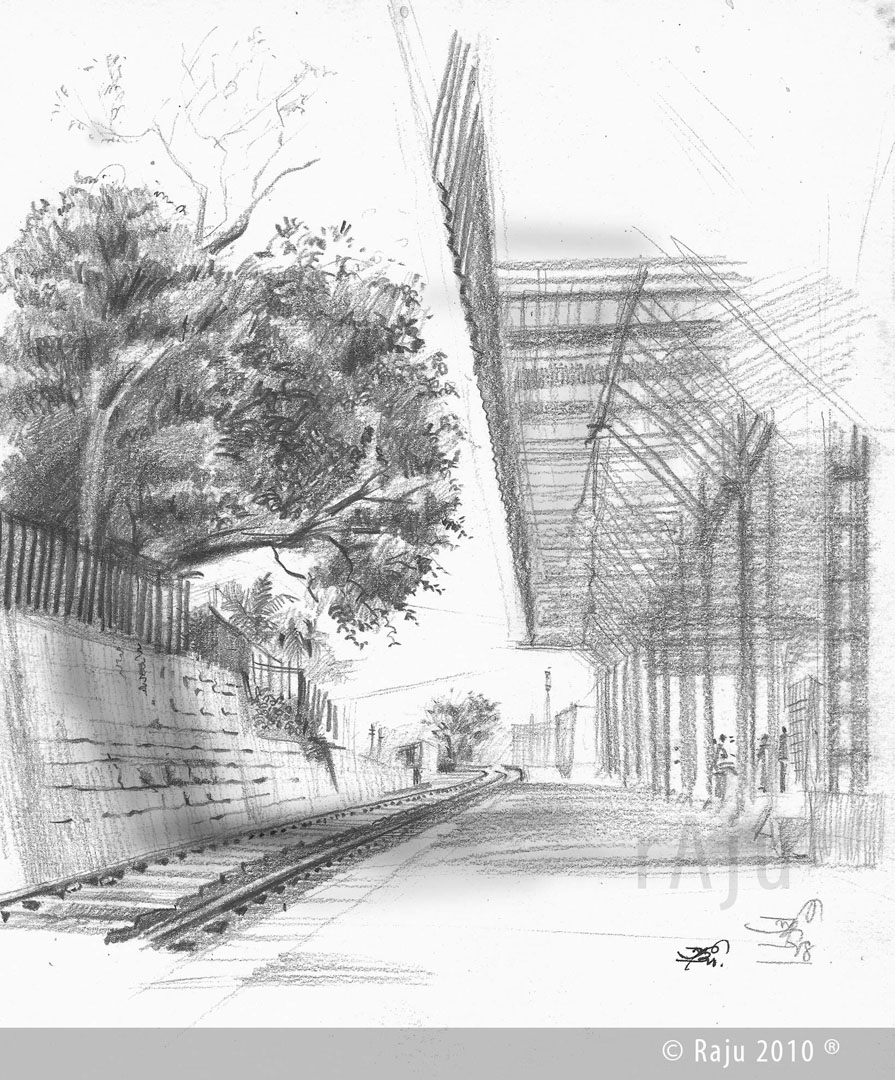 Londa Railway Station karnataka_Medium_Pensil